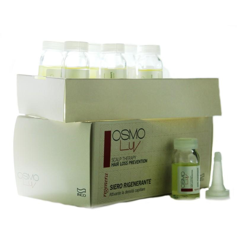INCO - OSMO LUV - SCALP THERAPY - REGENERA - Hair loss prevention (7 fiale da 10ml + 2 contagocce) Trattamento anticaduta