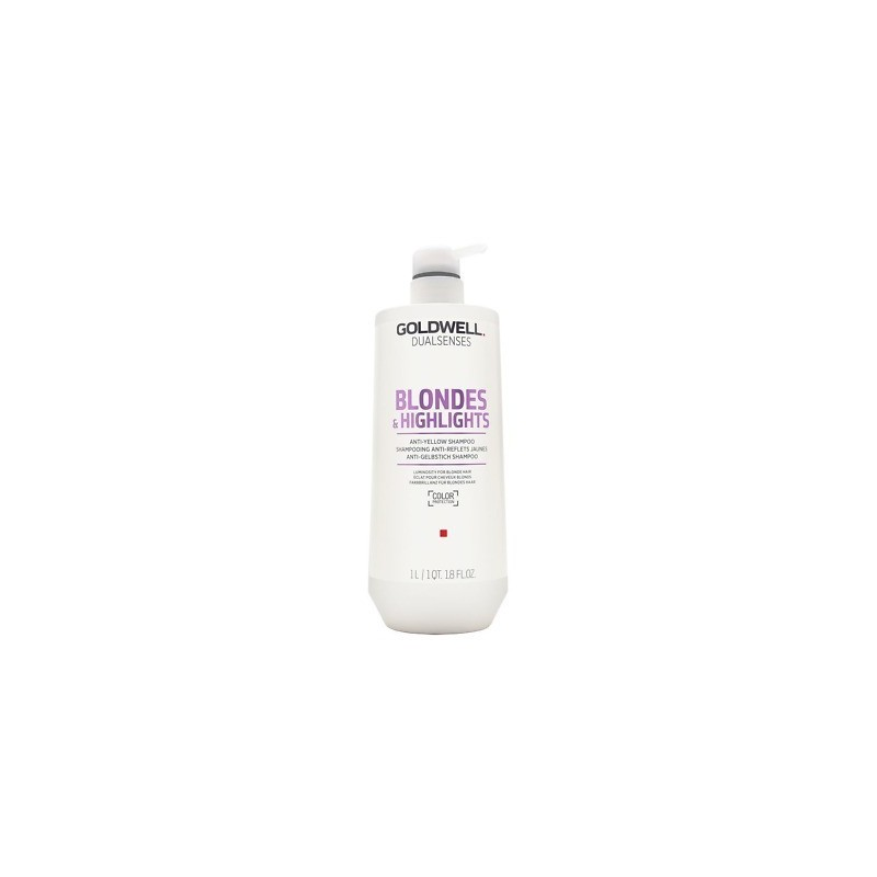 GOLDWELL - DUALSENSES - BLONDES & HIGHLIGHTS - Anti-yellow Shampoo (1Litro) Shampoo anti-giallo