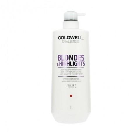 GOLDWELL - DUALSENSES - BLONDES & HIGHLIGHTS - Anti-yellow Conditioner (1Litro) Balsamo anti ingiallimento