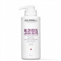 GOLDWELL - DUALSENSES - BLONDES & HIGHLIGHTS - 60sec Treatment (500ml) Trattamento per capelli biondi