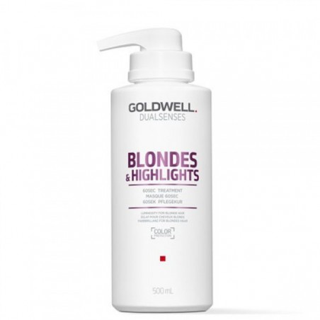 GOLDWELL - DUALSENSES - BLONDES & HIGHLIGHTS - 60sec Treatment (500ml) Trattamento per capelli biondi