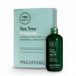 PAUL MITCHELL - TEA TREE PROGRAM - Keravis & Tea Tree Oil (Shampoo 300ml + 12 fiale da 6ml) Programma purificante