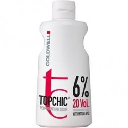 GOLDWELL - TOPCHIC - PERMANENT HAIR COLOR - CREAM DEVELOPER LOTION 6% 20 VOL. (1000ml) Crema