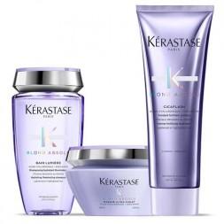 KERASTASE - BLOND ABSOLU KIT - Bain Lumiere 250ml Masque 200ml Cicaflash 250ml Kit capelli biondi