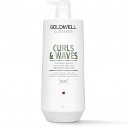 GOLDWELL - DUALSENSES - CURLS & WAVES Feuchtigkeitsspendendes Shampoo (1000 ml) Shampoo für lockiges Haar